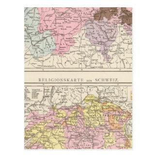 Carte religieuse et linguistique de la Suisse