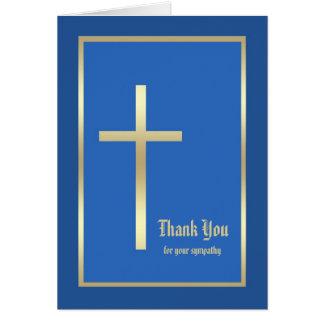 Carte religieuse vierge de note de Merci de