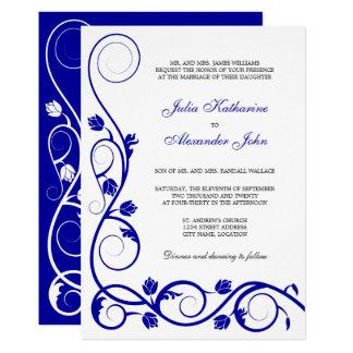 Carte Remous élégants de bleu royal et de blanc
