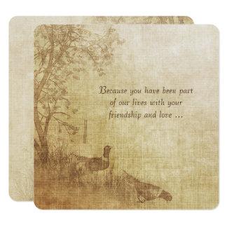 Carte Renouvellement de voeu de mariage de faisan
