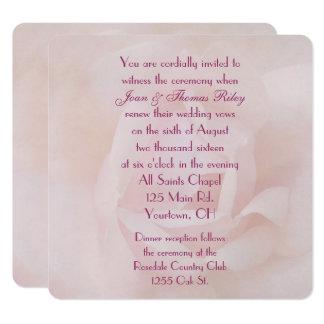 Carte Renouvellement de voeu de mariage de rose de rose