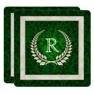 Carte Renouvellement de voeu de mariage de vert vert et