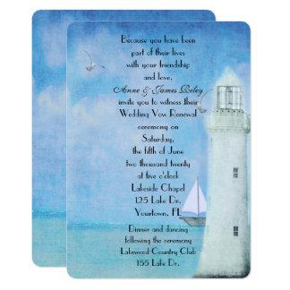 Carte Renouvellement nautique de voeu de mariage
