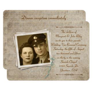 Carte Renouvellement vintage de voeu de mariage de