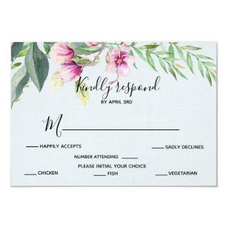 Carte Réponse de bleu de magnolia