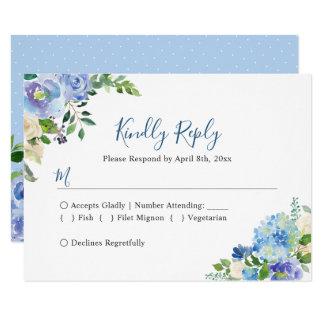 Carte Réponse l'épousant chic florale des hortensias