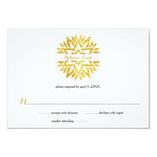Carte Réponse RSVP de bat mitzvah de mandala d'étoile de