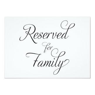 Carte Réservé à la famille - signe de mariage