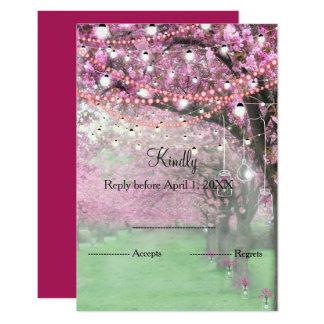 Carte Ressort de fleurs de cerisier épousant RSVP