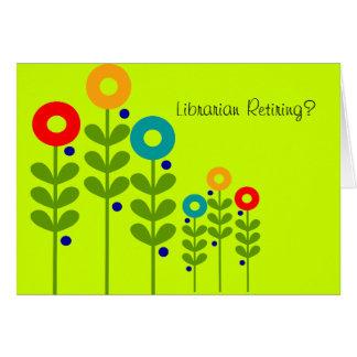 Carte retirée de bibliothécaire florale