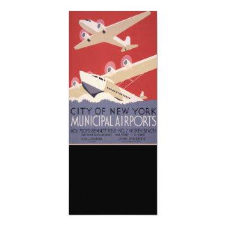 Carte Rétro affiche des aéroports | WPA de ville de