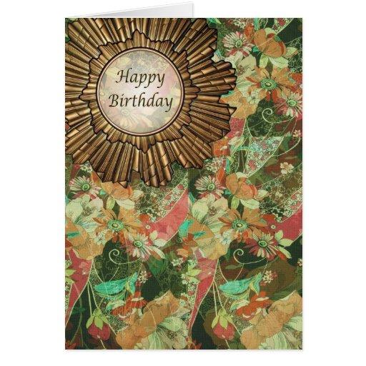 Carte R Tro D 39 Art D Co Joyeux Anniversaire De Jour Zazzle