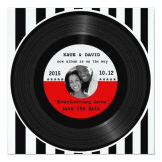 Carte Rétro disque vinyle l Économie-le-Date moderne