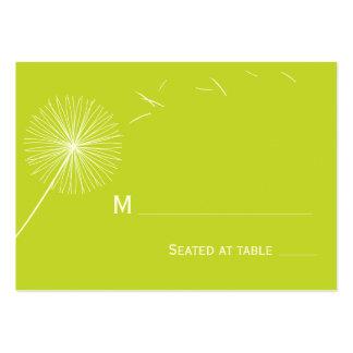 Carte rêveuse d'endroit de mariage de pissenlit -  cartes de visite professionnelles
