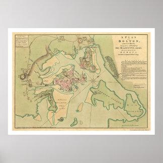 Carte révolutionnaire 1776 de Boston Posters