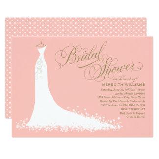 Carte Robe de mariage élégante nuptiale de l'invitation