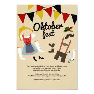 Carte Robe pour l'invitation d'Oktoberfest
