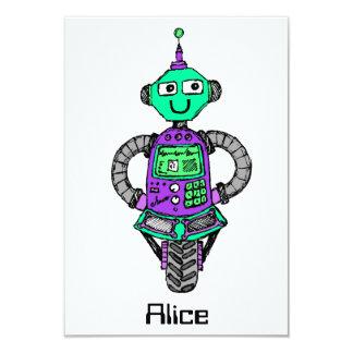 Carte Robot, pourpre et vert d'Arnie