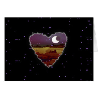 Carte Romance éclipsée d'amour de Sci fi Valentine