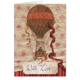 Carte romantique de ballon de Saint-Valentin