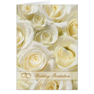 Carte romantique de faire-part de mariage de roses