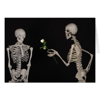 carte romantique de valentine d'amour profond d'os