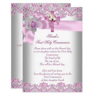 Carte Rose blanc de premières filles croisées de sainte