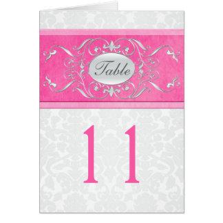 Carte rose, blanche, et grise de nombre de Tableau