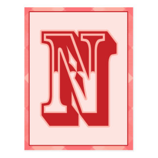 Carte rose de bannière de typographie de la lettre