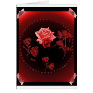 Carte rose de globe
