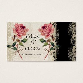 Carte rose de liste de cadeaux de cru baroque de