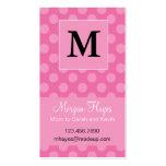 Carte rose de maman de polka carte de visite standard