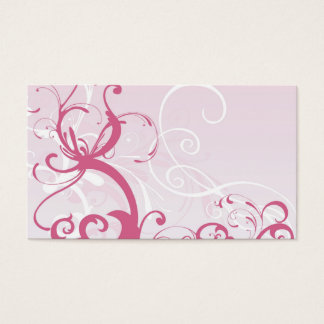 Carte rose de profil de motifs