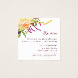 Carte rose de Recepton de jardin de pavot (100 ct)