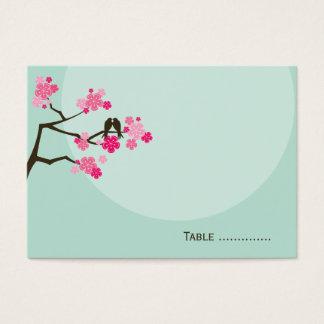 Carte rose d'endroit de mariage d'inséparable de