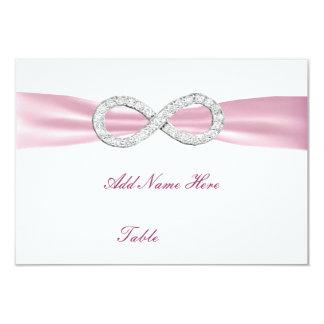 Carte rose d'endroit de Tableau de mariage Faire-part Personnalisé
