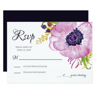 Carte rose du jardin RSVP de pavot