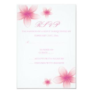 Carte rose et blanche du Frangipani RSVP Carton D'invitation 8,89 Cm X 12,70 Cm