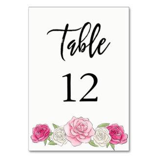 Carte Rose fait sur commande Weddin en pastel floral de