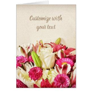 Carte rose florale assez rose