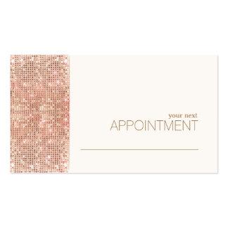 Carte rose moderne de rendez-vous de salon de carte de visite standard