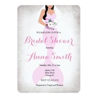 Carte Rose nuptiale vintage rose d'invitation de douche