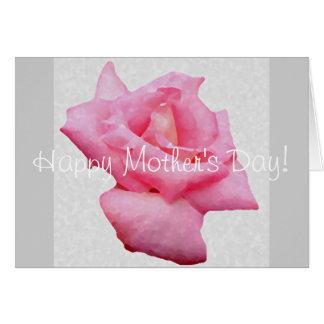 Carte rose pour la maman