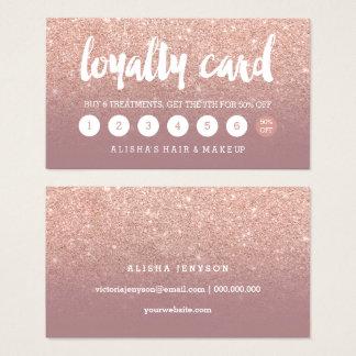 carte rose poussiéreuse de fidélité d'or de