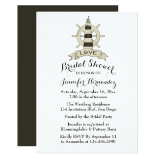 Carte Roue nuptiale nautique de bateau de phare de