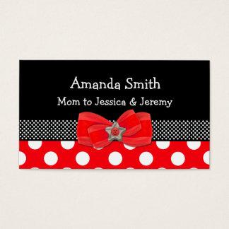Carte rouge, blanche, et noire de maman de point