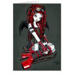 """Carte rouge """"cramoisie"""" d'ange de Goth de Cyber de"""