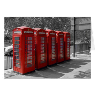 Carte rouge de cabines téléphoniques de Londres