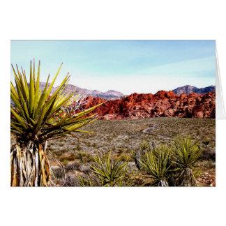 Carte rouge de canyon de roche