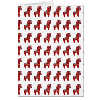Carte rouge de cheval de Dala à customiser ou